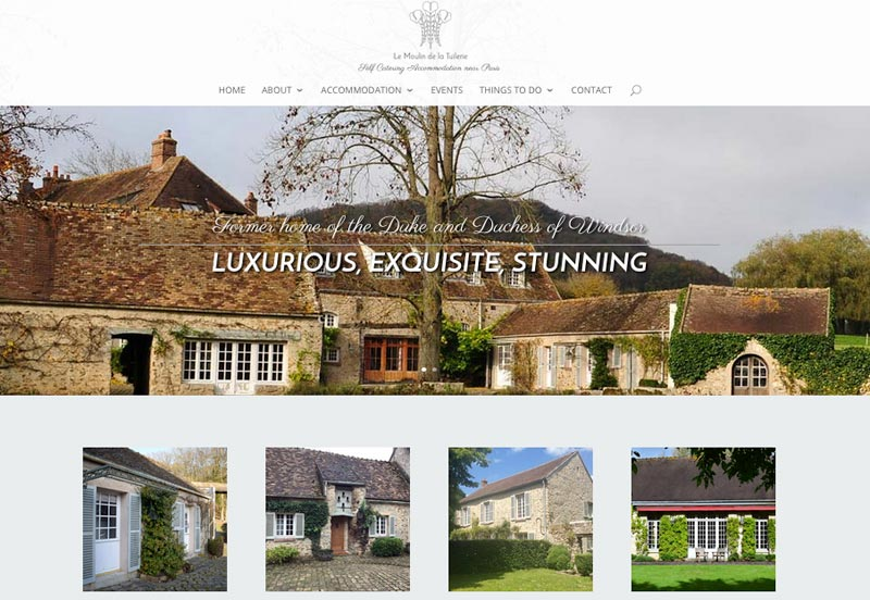 le moulin de la tuilerie responsive website design