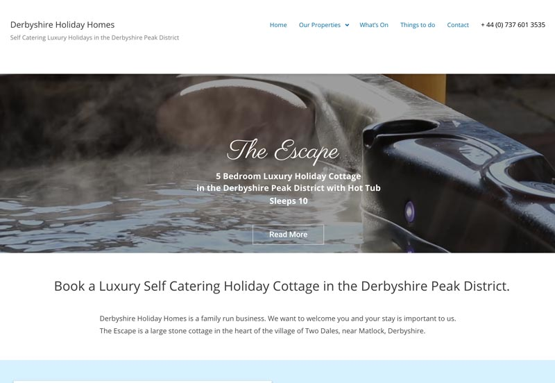 derbyshire holiday homes and cottages peak district